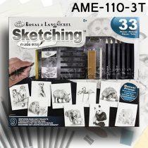 Rajzkészlet - Sketching Made Easy box 23+9pcs - AME-110-3T