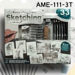 Rajzkészlet - Sketching Made Easy box 23+9pcs - AME-111-3T