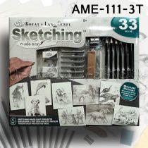 Rajzkészlet - Sketching Made Easy box 23+9pcs - AME-111-3T