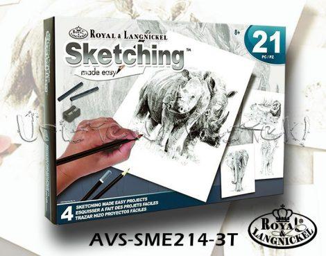 Rajzkészlet - Royal&Langnickel Sketching Made Easy 21 - Safari