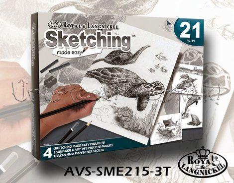 Rajzkészlet - Royal&Langnickel Sketching Made Easy 21 - Óceánok állatai
