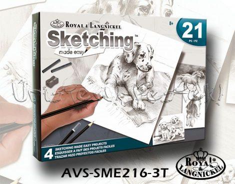 Rajzkészlet - Royal&Langnickel Sketching Made Easy 21 - Háziállatok