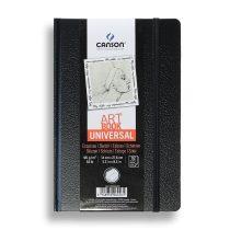 Vázlattömb - Canson Art Book 180° - keménykötéses, fekete vázlatkönyv - KÜLÖNBÖZŐ MÉRETEKBEN!