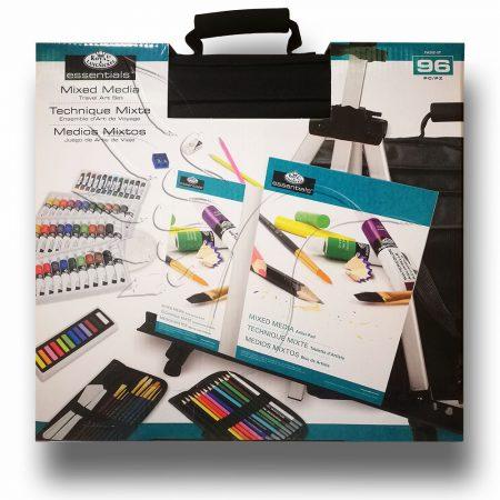 Rajz- és festőkészlet festőállvánnyal - Royal & Langnickel Essentials Mixed Media Travel Art Set 96p