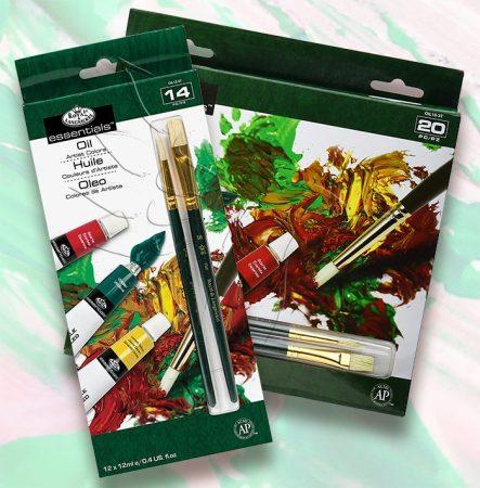 Olajfesték készlet - Royal & Langnickel Essentials Oil Artist Colors Set - KÜLÖNBÖZŐ KISZERELÉSEKBEN