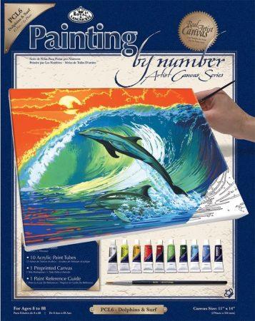 Vásznas kifestőkészlet - Számozott - akril és vászon, 23x30cm