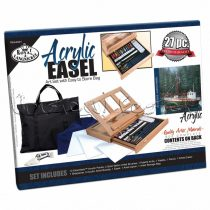 Arilfestő készlet festőállvánnyal - Royal & Langnickel Acrylic Easel Art Set with Easy to Store Bag
