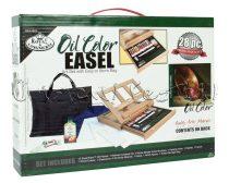 Olajfestő készlet festőállvánnyal - Royal & Langnickel OIL Color Easel Set 28db-os