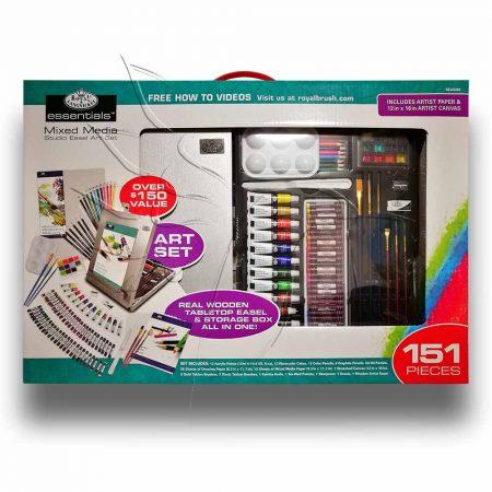 Rajz- és festőkészlet festőállvánnyal - Royal & Langnickel Essentials Mixed Media Studio Easel Art S