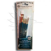 Ecsetkészlet - Royal & Langnickel White Taklon Brush set 7pcs