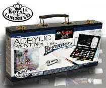 Akrilfestő készlet fadobozban - Royal & Langnickel ACRYLIC PAINTING Artist Set for Beginners