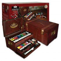 Grafikai Nagykészlet fadobozban - Royal & Langnickel Artist Premier Set Painting Chest 80pcs