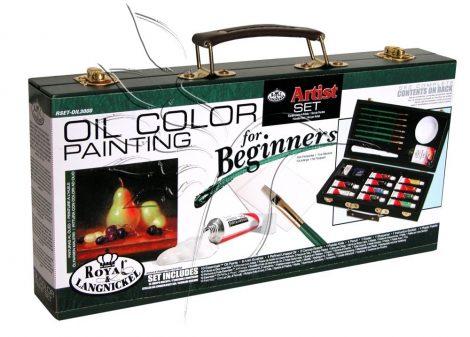 Olajfestő készlet fadobozban - Royal & Langnickel OIL Artist Set for Beginners