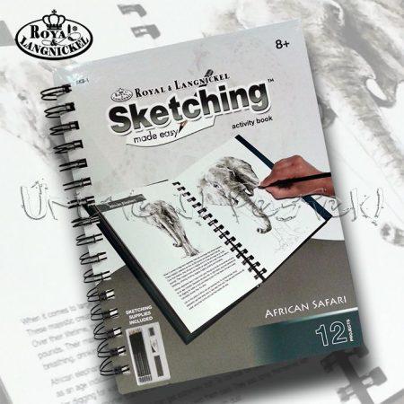 Rajzkészlet KÖNYBEN - 12 előrenyomott vázlattal és rajzeszközökkel - A/5