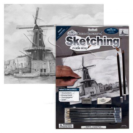 Rajzkészlet előrenyomott vázlattal - Sketching Made Easy A/4 - Coastal Point