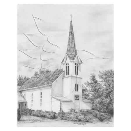 Rajzkészlet előrenyomott vázlattal - Sketching Made Easy A/4 - Ivy Church