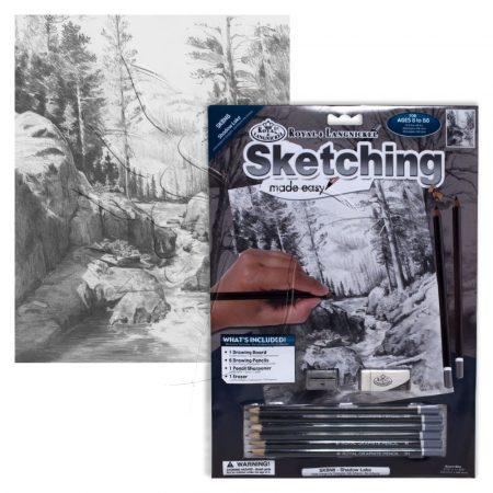 Rajzkészlet előrenyomott vázlattal - Sketching Made Easy A/4 - Shadow Lake