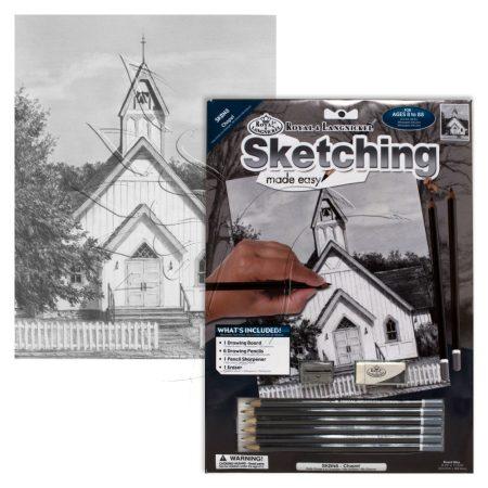 Rajzkészlet előrenyomott vázlattal - Sketching Made Easy A/4 - Chapel