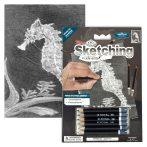Rajzkészlet előrenyomott vázlattal - Sketching Made Easy Mini A/5 - Seahorse