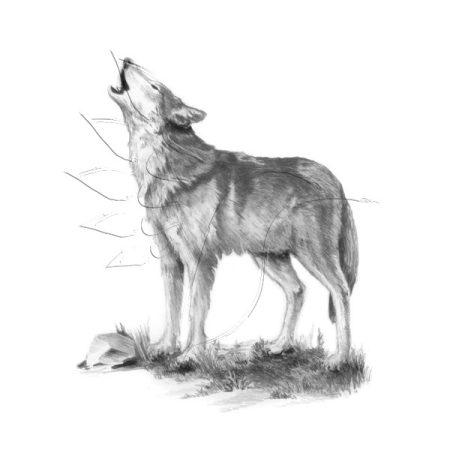 Rajzkészlet előrenyomott vázlattal - Sketching Made Easy Mini A/5 - Howl