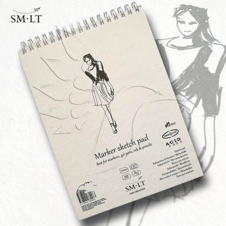 Markertömb - SMLT Marker Sketch Pad 100gr, 40 sheets A/5
