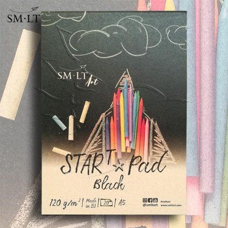 Pasztelltömb - SMLT SARTt PAD BLACK 120gr, 20 sheets
