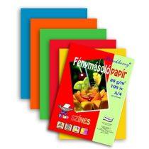 Dekorpapír - Színes fénymásoló papírcsomag, 80gr, A/4, 100ív/csom - Élénk