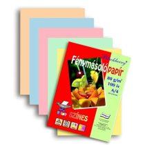 Dekorpapír - Színes fénymásoló papírcsomag, 80gr, A/4, 100ív/csom - Pasztell