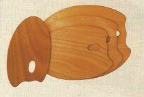 Color Mixer Palette - CAPPALLETTO, wood, 14x25cm