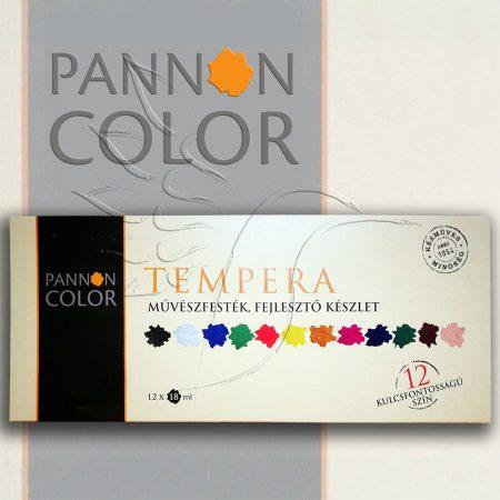 Pannoncolor Artist Tempera set - 12x18ml tube