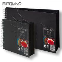 Rajz- és festőtömb - Fabriano Black Drawing 190g, 40 fekete lap, spirál
