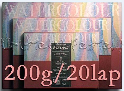 Akvarelltömb FABRIANO - 200g, 20lap