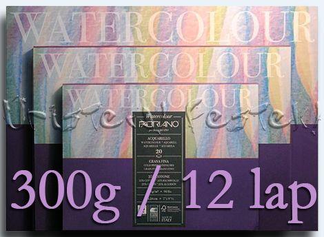 Akvarelltömb FABRIANO - 300g, 12lap