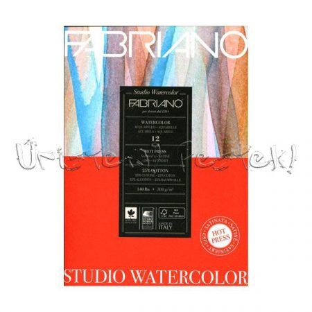 Akvarelltömb - Fabriano Watercolor Hot Press - simafelületű, melegen préselt, 25% pamut, 300g, 12lap