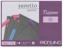 Pastel Pad Fabriano Tiziano Nero - BLACK