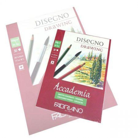 Vázlat- & Akvarelltömb - Fabriano Disegno Drawing 200g - AKVARELLHEZ, GRAFITHOZ, SZÉNHEZ