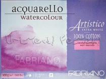 Akvarelltömb FABRIANO Watercolour Artistico Extra White, 100% cotton, Grana Satinata, Hot Pressed -
