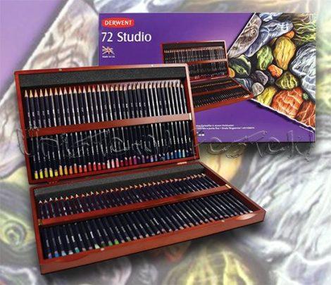 Színesceruza készlet fadobozban - Derwent Studio 72