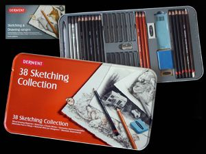 Derwent Sketching Collection - collection in metallic box