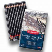 Szénceruza készlet, színezett - Derwent Tinted Charocoal 12