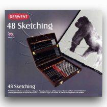 Ceruzakészlet - Derwent Sketching Collection Wooden box 48pcs