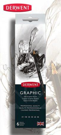 Ceruzakészlet - Derwent Graphic Soft Graphite Pencils - 6pcs