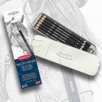 Pencil Set - Derwent Sketching metal pencil holder - 6 pieces
