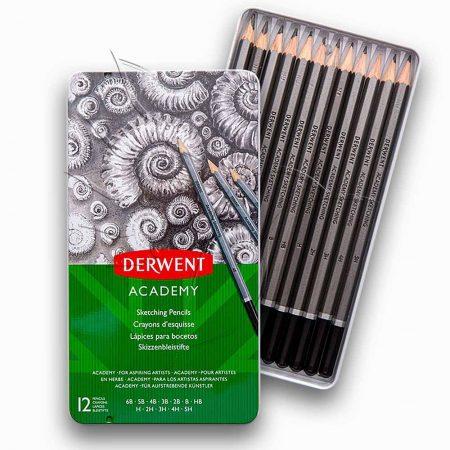Skicc ceruzakészlet - Derwent Academy Sketching Pencils Tin Set 12pcs