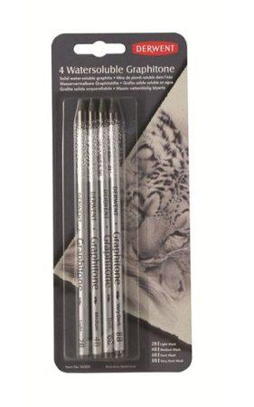Grafitrúd-készlet Derwent Watersoluble Graphitone, vízoldható 4db