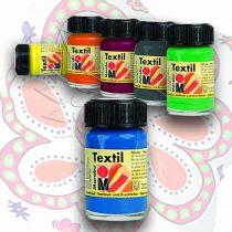 Textilfesték - Marabu 15ml - medium blue 052