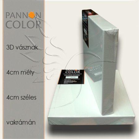 Festővászon 3D - Pannoncolor Alapozott, Feszített, 4cm mély, 4cm széles vakrámán