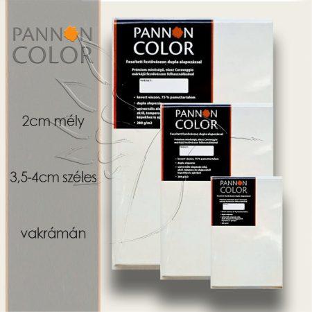 Festővászon - Pannoncolor Alapozott, Feszített, 2cm mély, 3,5-4cm széles vakrámán