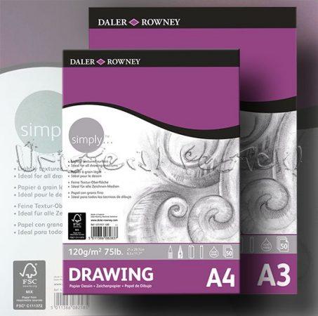 Vázlattömb - Daler-Rowney Simply Drawing - 50 lap, 120gr/nm