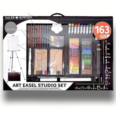 Akril-, Olaj-, Akvarellfestő és Rajzkészlet festőállvánnyal - Daler-Rowney Simply Art Easel Studio S